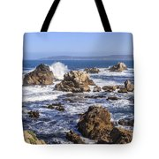 Point Lobos Rocks And Waves Tote Bag