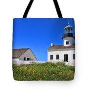 Point Loma Lighthouse By Diana Sainz Tote Bag