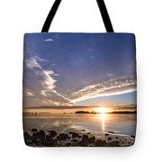 Point Of The Sunset Tote Bag