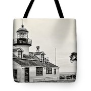 Point Pinos Lighthouse By Diana Sainz Tote Bag