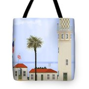 Point Vicente Lighthouse Tote Bag by Anne Norskog