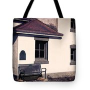 Point Wilson Lighthouse Bench Tote Bag