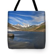 Pointe Rousse Lake - Vertical Composition Tote Bag