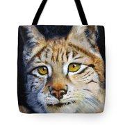 Pointed Advantage - Siberian Lynx Tote Bag
