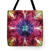 Pointed Star Flower Watercolor Tote Bag