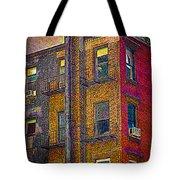 Pointillism In Steel And Brick Tote Bag