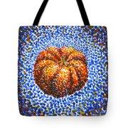 Pointillism Pumpkin Tote Bag