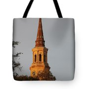 Pointing Upward Tote Bag