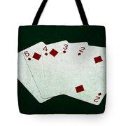 Poker Hands - Straight Flush 4 Tote Bag