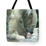 Polar Bear Feeding Tote Bag