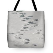 Polar Bear Footprints Tote Bag