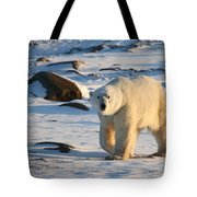 Polar Bear On The Tundra Tote Bag