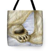 Polar Bear Paw Tote Bag