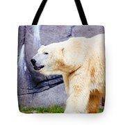 Polar Bear Walking Tote Bag
