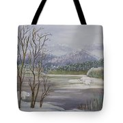 Polar Bears Crossing Tote Bag