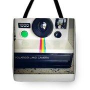 Polaroid Camera.  Tote Bag