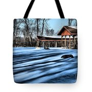Pole Barns In The Winter Tote Bag
