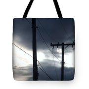 Poles And Sunsets Tote Bag