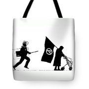 Police And Granny Tote Bag