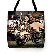 Police Bikes In New York Tote Bag