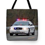 Police Escort Tote Bag