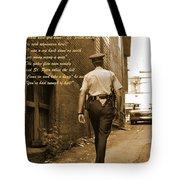 Police Poem Tote Bag