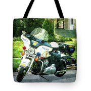 Police - Police Motorcycle Tote Bag