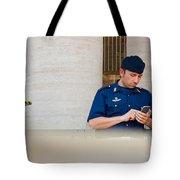 Policeman At St. Peter's Basilica Tote Bag