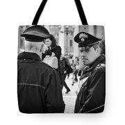 Policemen In Rome Tote Bag