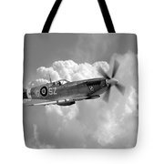 Polish Spitfire Ace Bw Tote Bag