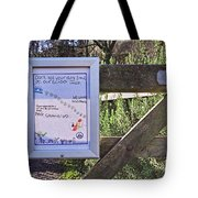 Polite Clean-up Sign Tote Bag