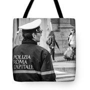 Polizia Roma Capitale Tote Bag