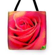 Polka Dot Beautiful Rose Tote Bag