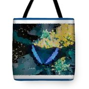 Polka Dot Butterfly Blue Tote Bag
