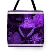 Polka Dot Butterfly Purple Tote Bag