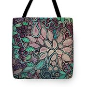 Polka Dot Flowers Tote Bag