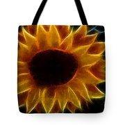 Polka Dot Glowing Sunflower Tote Bag