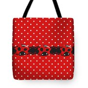 Polka Dot Lady Bugs Graphics By Kika Esteves  With Custom Coordinated Design Crafted By D Miller.  Tote Bag