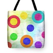 Polka Dot Panorama - Rainbow - Circles - Shapes Tote Bag by Andee Design
