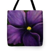 Polka Dot Purple African Violet Tote Bag