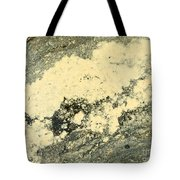Pollen Of Black Spruce Trees On Water Surface Tote Bag