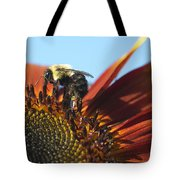Pollinating Sunflower Seeds Tote Bag