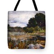 Polling Landscape Tote Bag