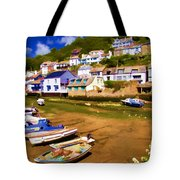 Polperro At Low Tide Tote Bag