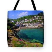Polperro Harbor Tote Bag