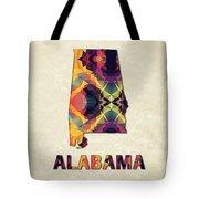 Polygon Mosaic Parchment Map Alabama Tote Bag