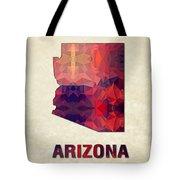 Polygon Mosaic Parchment Map Arizona Tote Bag