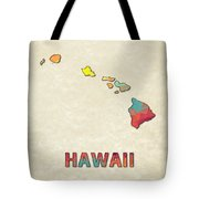 Polygon Mosaic Parchment Map Hawaii Tote Bag