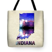 Polygon Mosaic Parchment Map Indiana Tote Bag