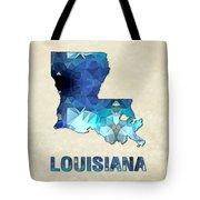 Polygon Mosaic Parchment Map Louisiana Tote Bag
